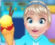 Baby Elsa Cooking Homemade Icecream