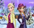 Elsa And Anna Winter Dress Up